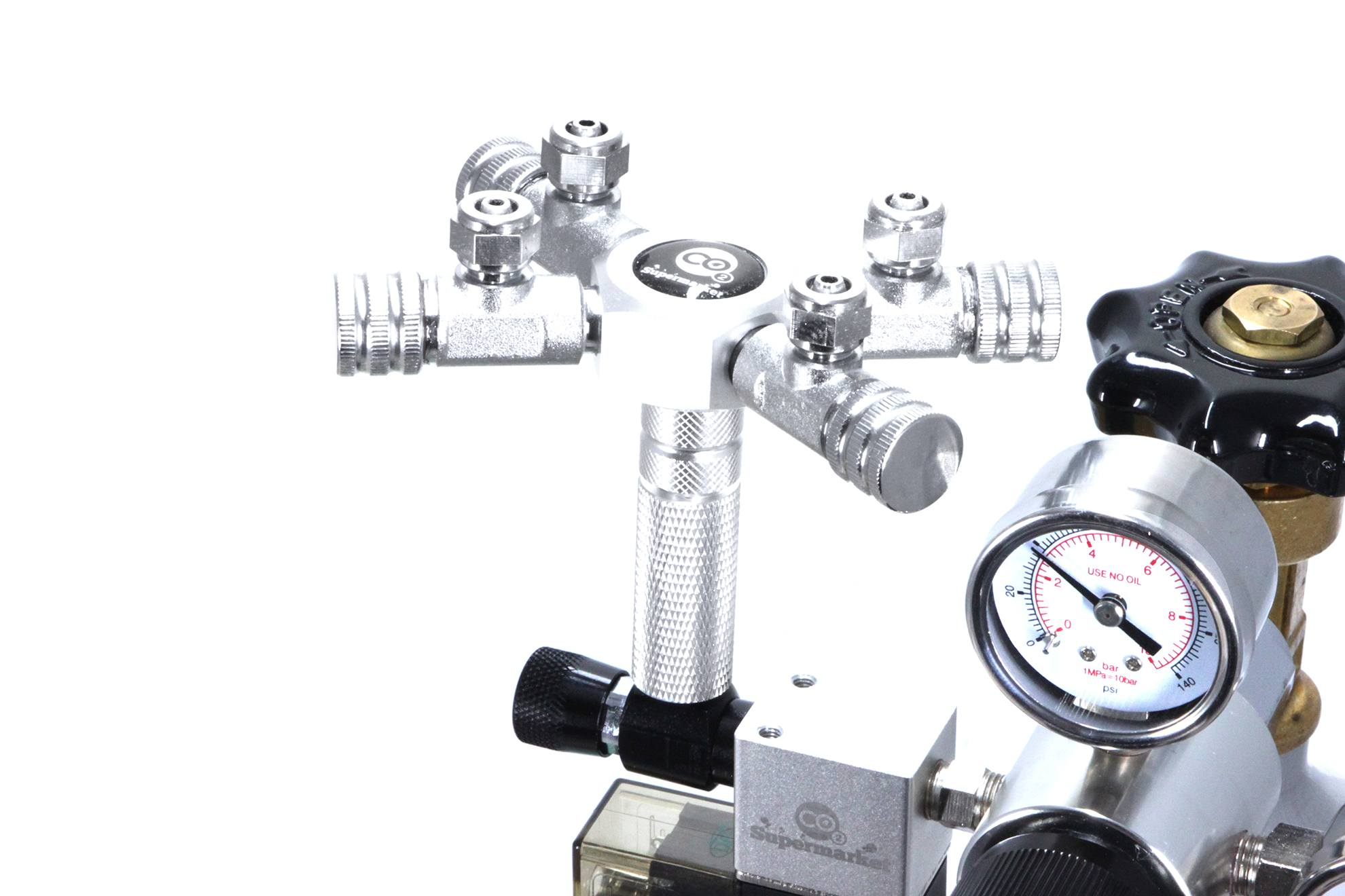 Aquarium 4-Way splitter voor CO2 Regulators